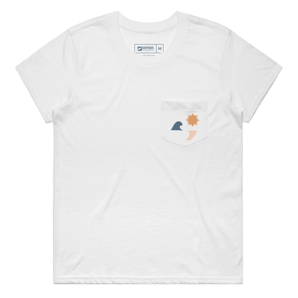 Women's Sun Smile T-Shirt (White)