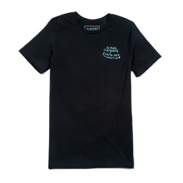 Almond x Surfrider Script Tee (Men's)
