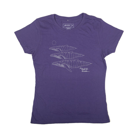 Artist Series - Whales Purple (womens)