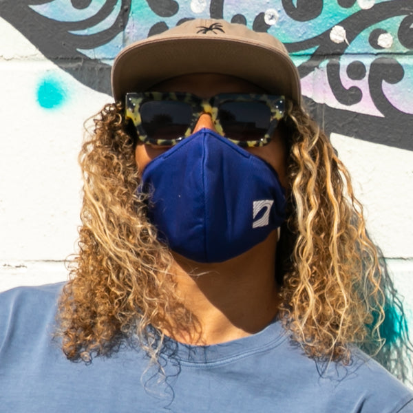 Dual-Layer Woven Face Mask (Blue)