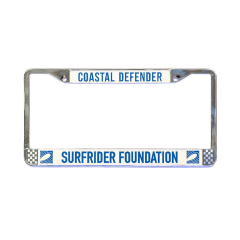 Coastal Defender Chrome License Plate Frame