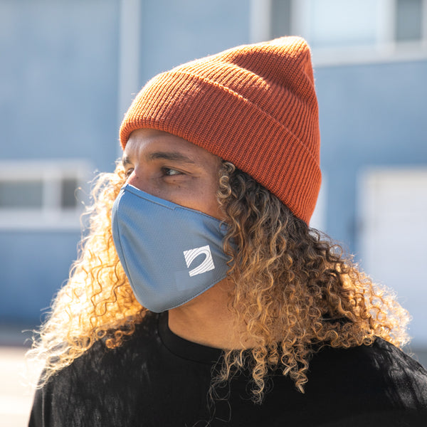 Dual-Layer Woven Face Mask (Grey)