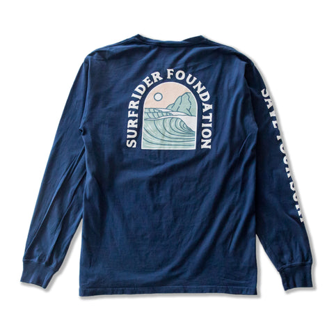 Save Your Surf Long Sleeve Shirt (Navy)