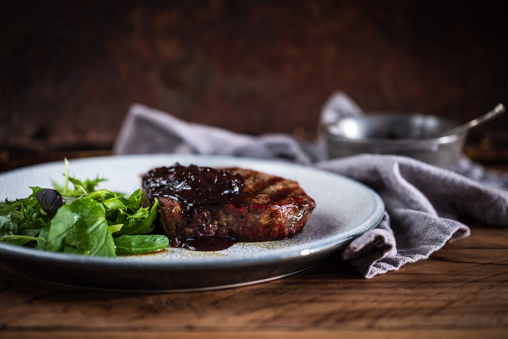 Steak with Coffee Chocolate Sauce