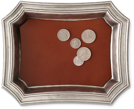 Change Tray with Leather Insert