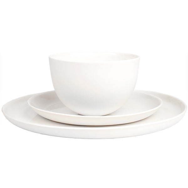 Mud 3PC Place Setting - Milk