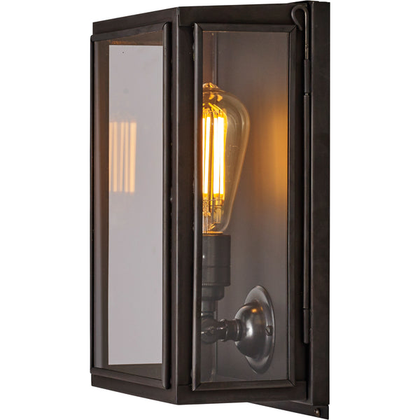 Box Wall Light - External Glass - Small