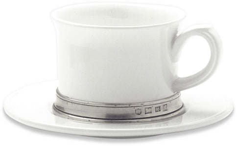 Convivio Cappuccino/Tea Cup with Saucer - Set of 2
