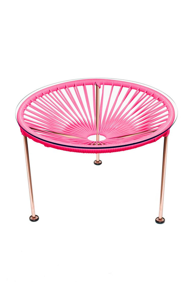 Zica Side Table - Copper Frame