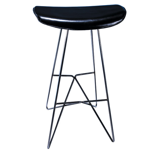 K:4 Leather Swivel Stool