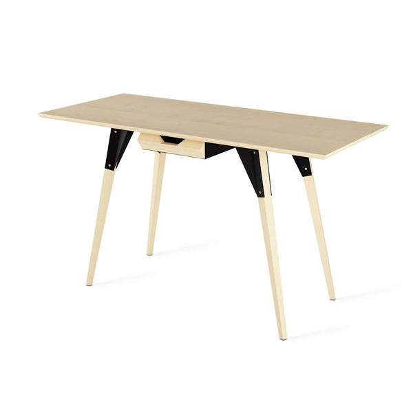 Clarke With Drawer Thin Rectangle Desk - Maple