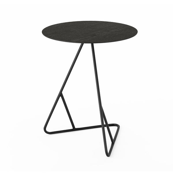 James End Table - Black Oak