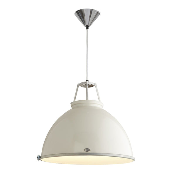 Titan 5 Pendant - White with Diffuser