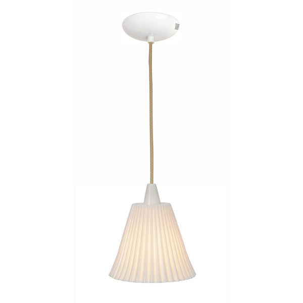 Hector Large Pleat Pendant Light - Natural