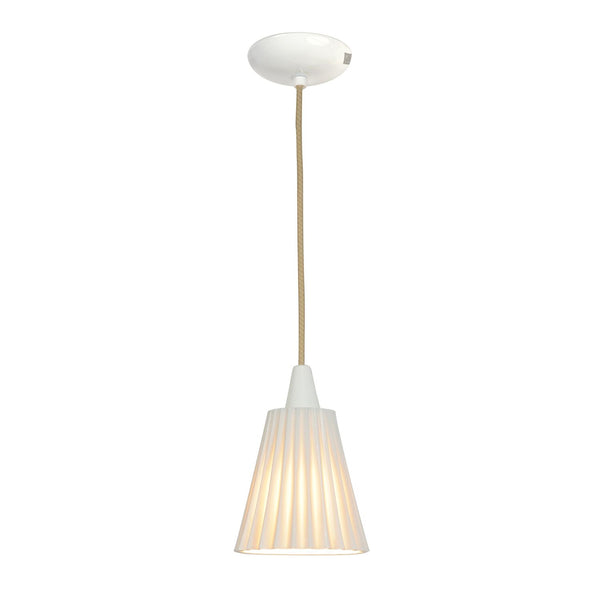Hector Medium Pleat Pendant Light - Natural