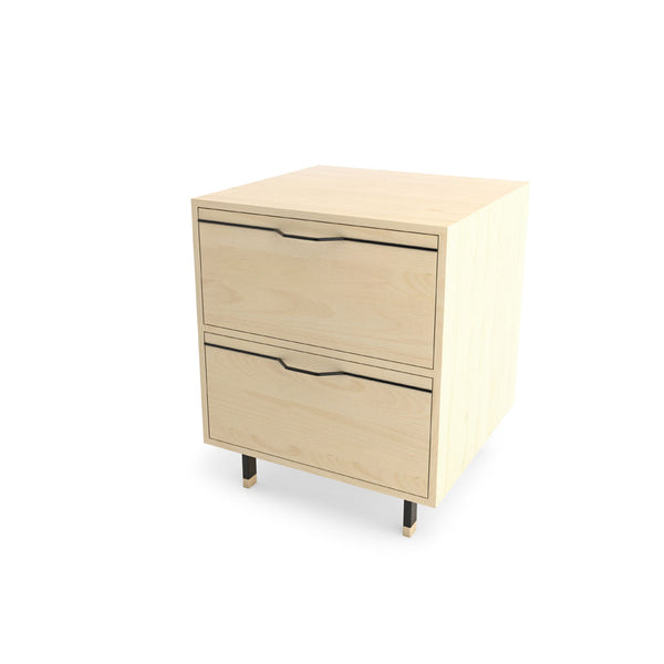 Chapman Single Unit Storage Nightstand - Maple