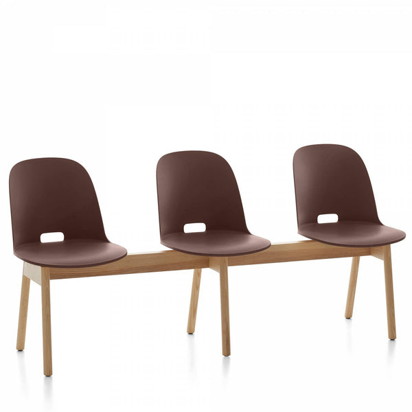 Alfi 3-Seat High Back Bench