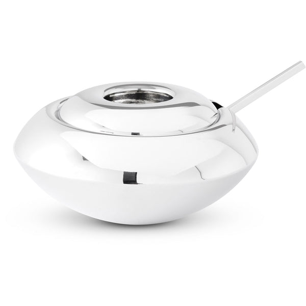 Form Sugar Dish and Spoon - Stainless Steel