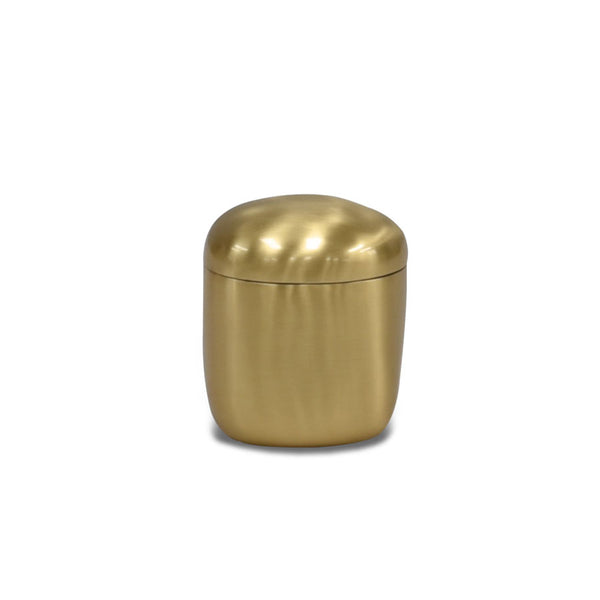 Brushed Brass Lidded Box