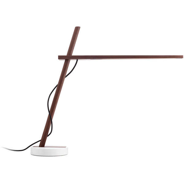 Clamp Freestanding Table + Task Lamp w/ White Base