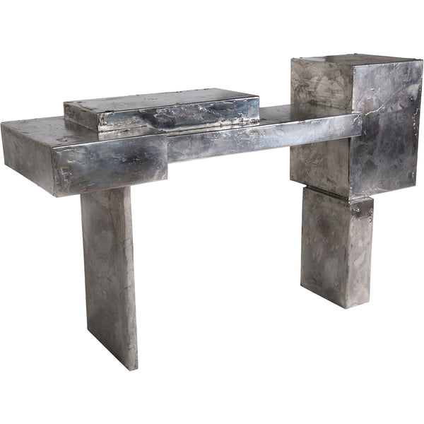 Pewter Console Table
