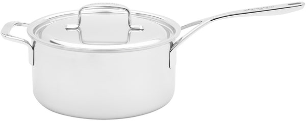 Demeyere 5-Plus Stainless Steel 4-qt Sauce Pan with Handle