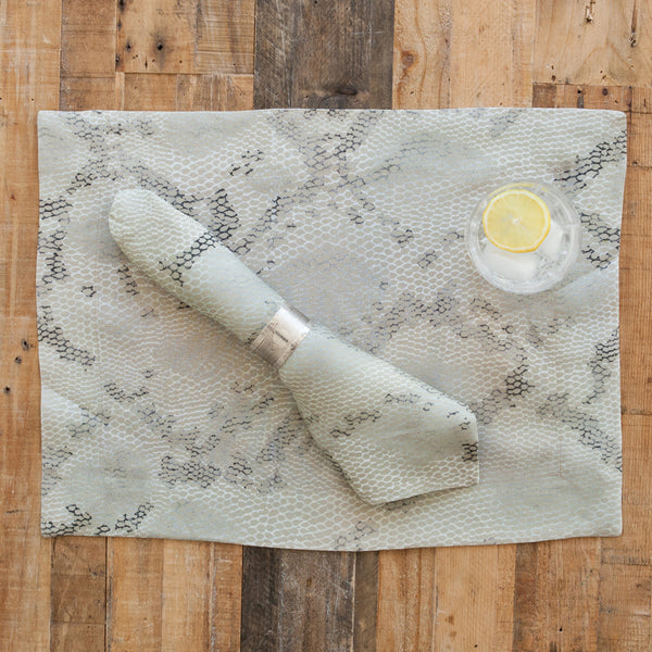 Python Print Linen Napkin (Set of Four)