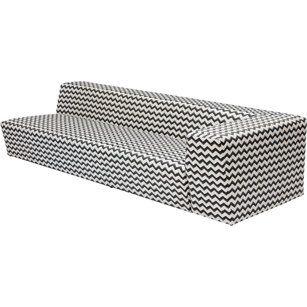 Caroline Outdoor Sofa In Zigzag