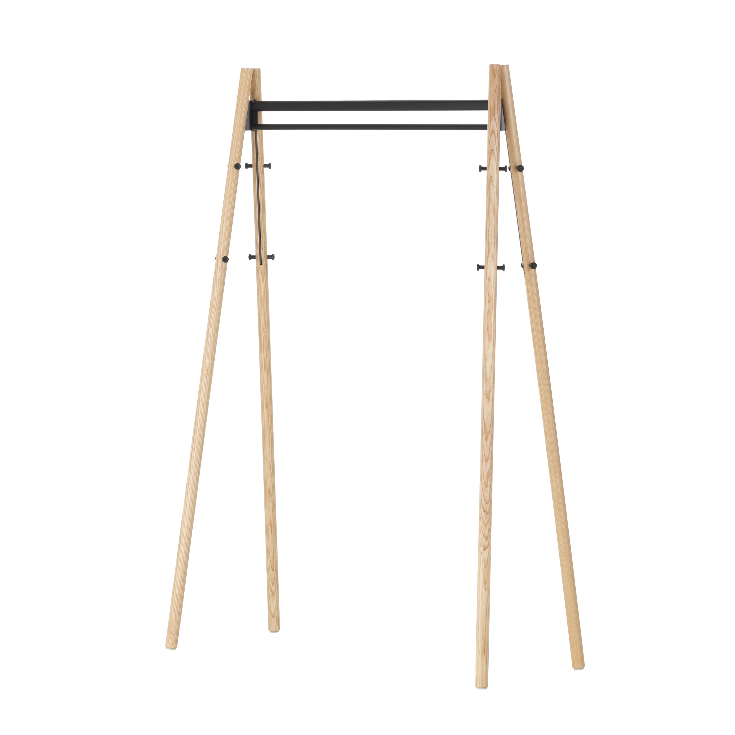 Artek Kiila Coat Rack by Alvar Aalto Natural Lacquered Hooks Black