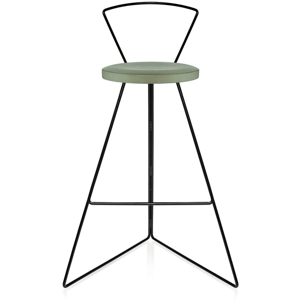 The Coleman Stool With Backrest - Aspen