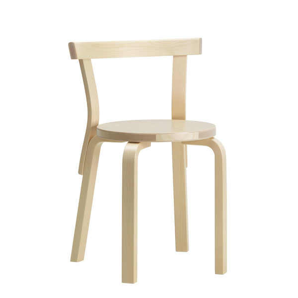Chair 68 Natural Lacquered by Alvar Aalto