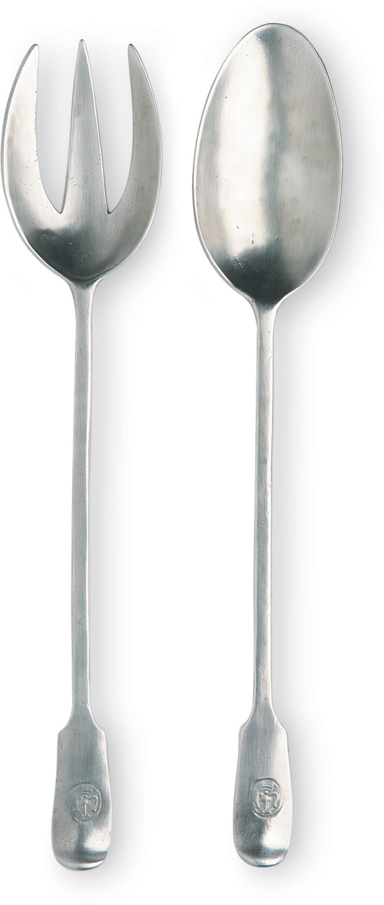 Antique Serving Fork & Spoon Set - 2 pcs