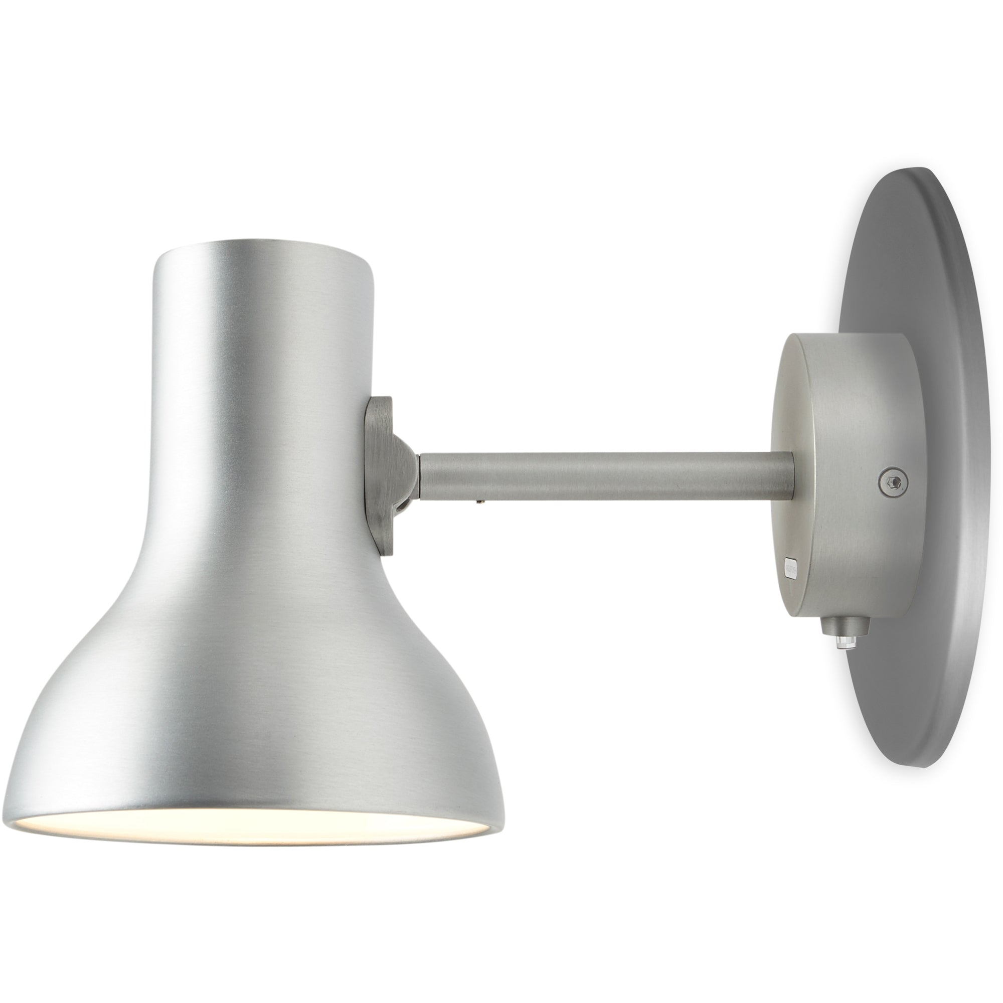Anglepoise Type 75 Mini Metallic Wall Light Silver Luster