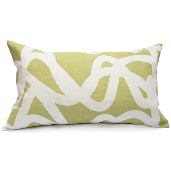Current Pillow in Pistachio