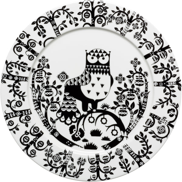 Taika Large Dinner Flat Plate - Black