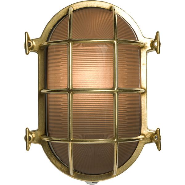 Oval Brass Bulkhead Light 7034