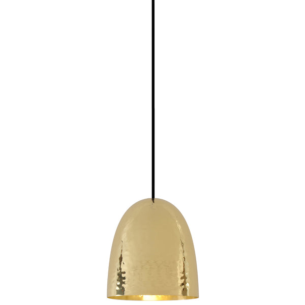 Stanley 1 Brass Pendant - Hammered Finish