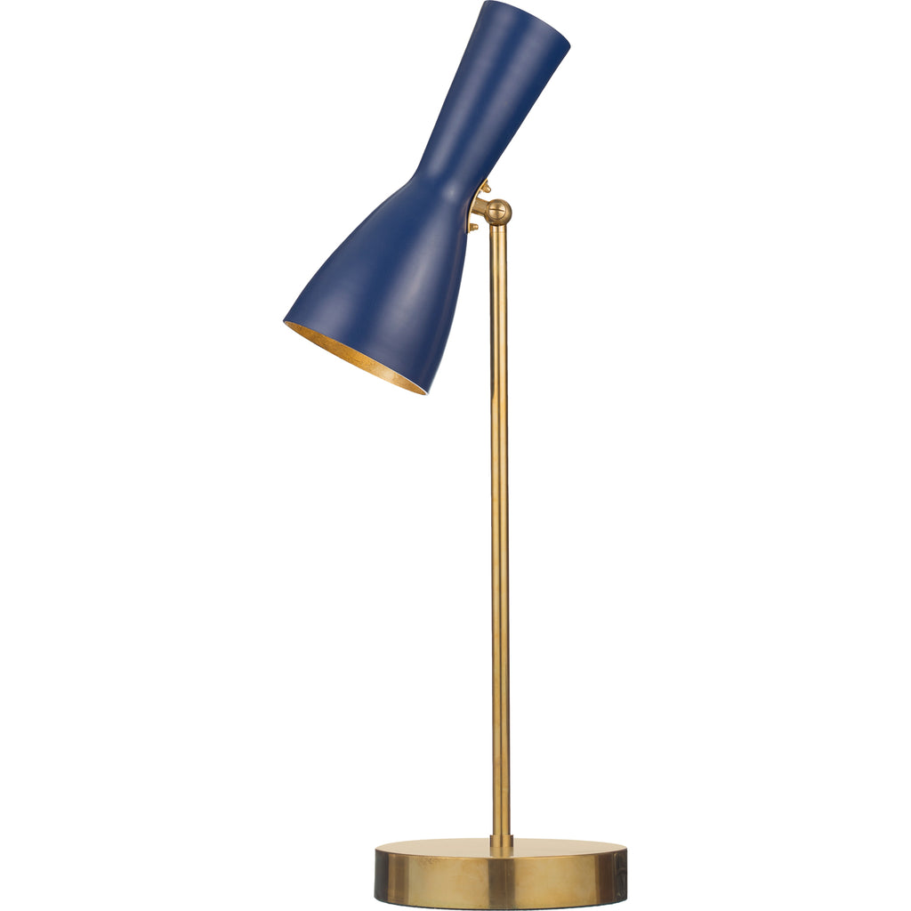 Brass Brothers Co Wormhole Table Lamp Sapphire Blue Gold