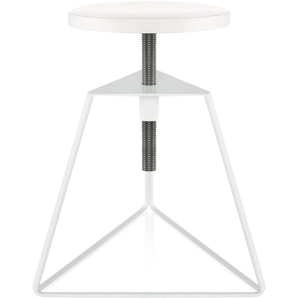 The Camp Stool - White Marble