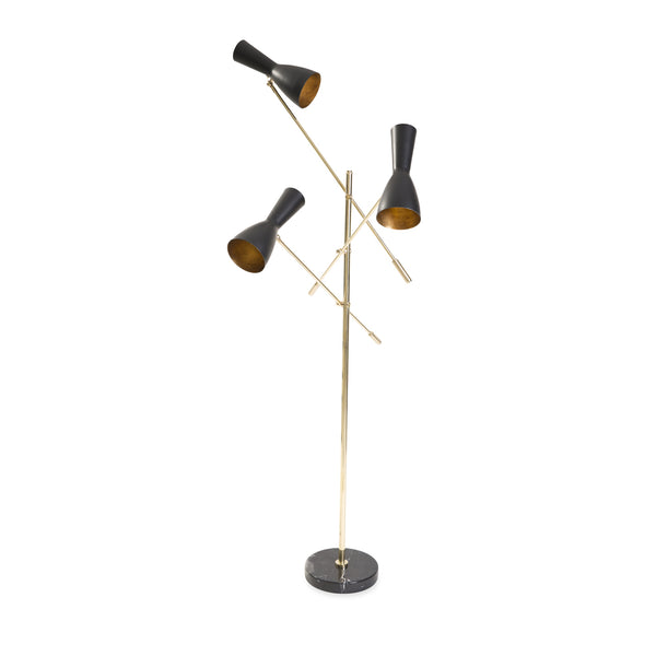 Wormhole 3 Arm Floor Lamp - Black/White