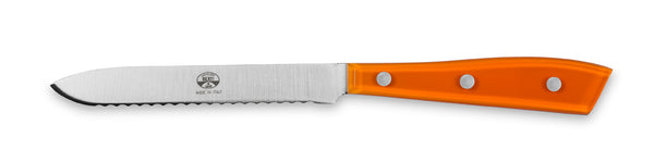 Compendio Polished Tomato Knife - Orange Lucite