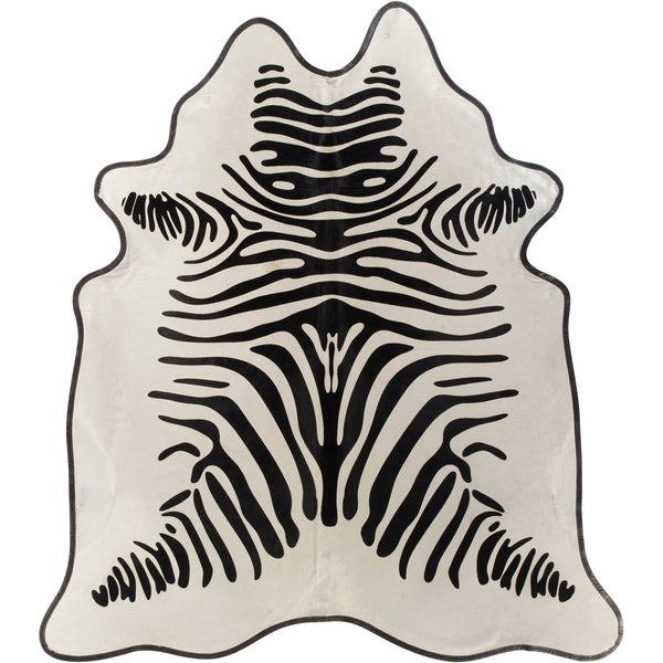 Leather Trimmed Hide - Zebra
