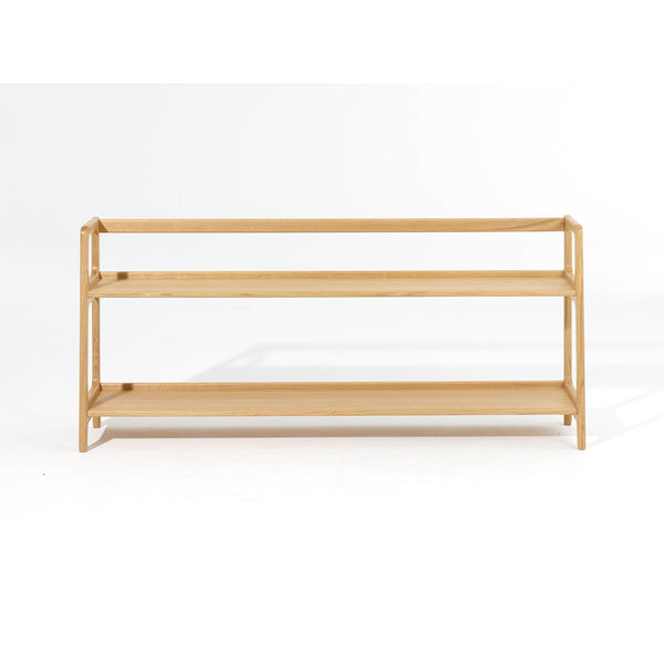 Agnes Long Shelving Unit - Oak