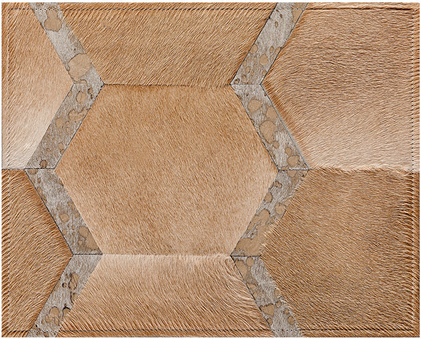 Sinatra Cowhide Rug - Champagne