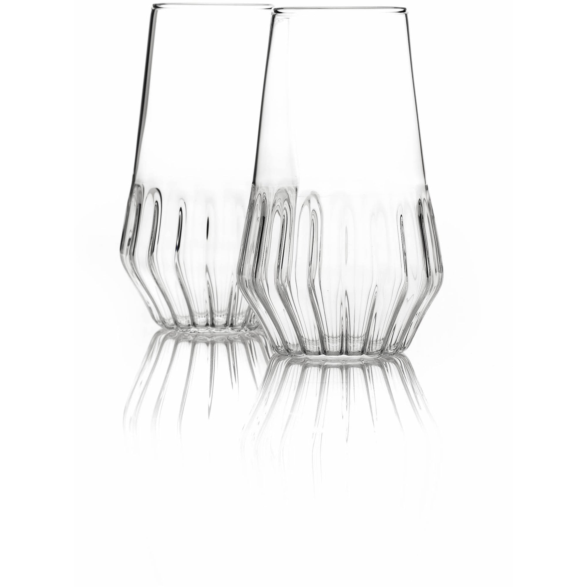 Mixed Flute Glass - Set of 2