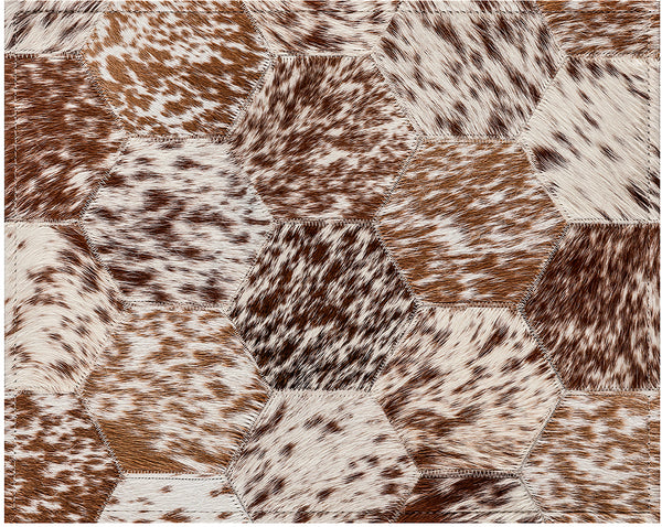 Bennet Cowhide Rug - Brown And White