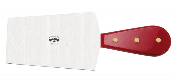 Trapezium Cheese Knife - Red Lucite Handle