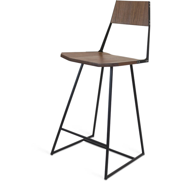 Clarkester Counter Stool - Walnut