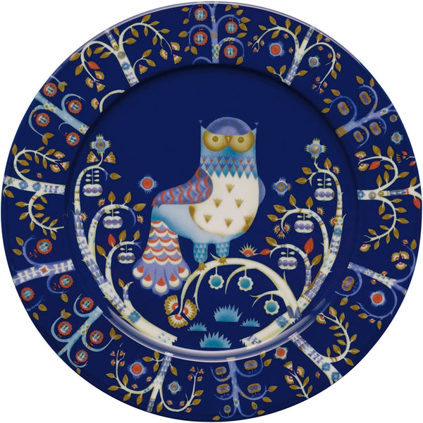 Taika Large Dinner Flat Plate - Blue