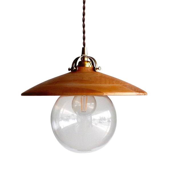 Lostine Edmund Pendant Light with Wooden Shade